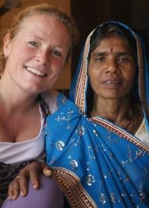 Muriel Schrikkema tijdens wereldcoach traject in India